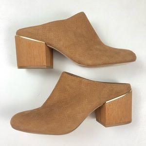 [Calvin Klein] NWT $139 Judia Leather Mule Heel